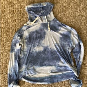 Blue and White Cloud Hollister Hoodie